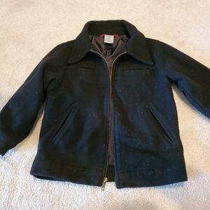 Gymboree boys wool black coat jacket front zipper